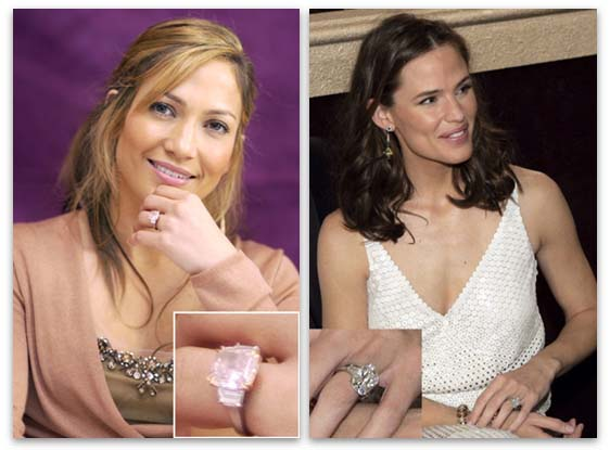 Harry Winston Engagement Rings - Jennifer Lopez and Jennifer Garner