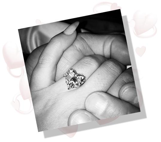Lady Gaga's massive heart diamond engagement ring