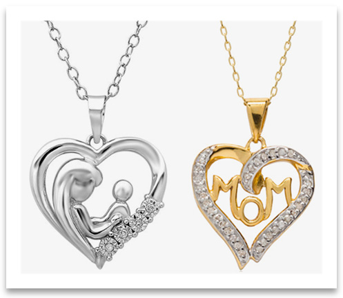 Heart Pendant Necklaces for moms