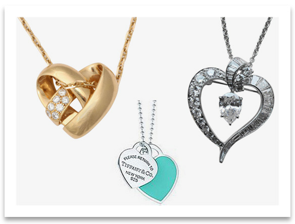 Heart Pendant Necklaces from popular brands