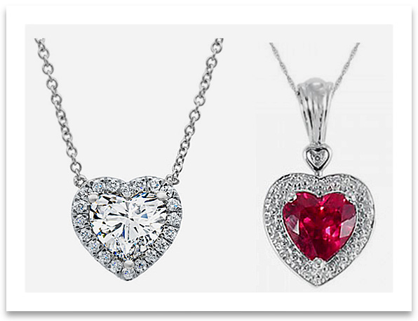 color necklace designs cz geometric item necklaces from plated gold yellow heart cut stone in pendant princess rose shaped with