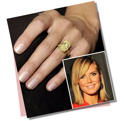 Heidi Klum with Yellow Diamond