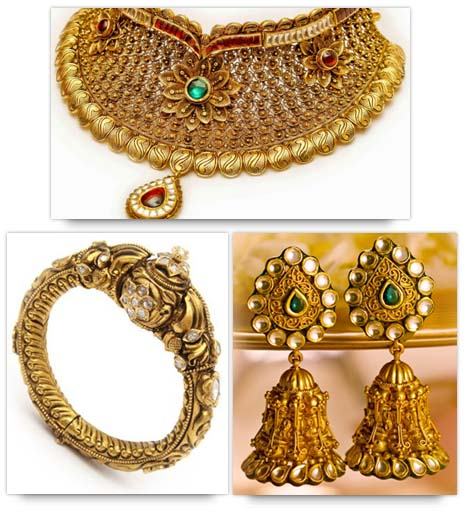 Indian Bridal Jewelry Tips - Dull Finish Gold