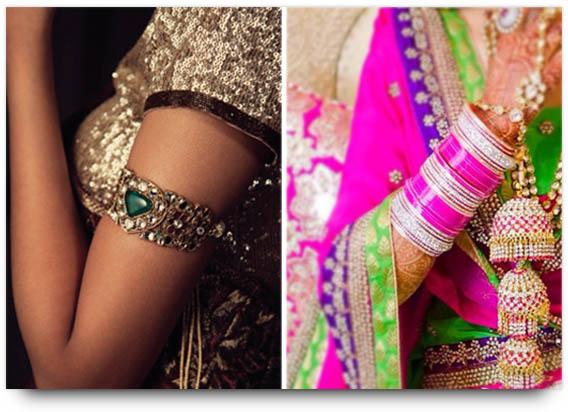 Indian Bridal Jewelry Bajubandh and Chooda