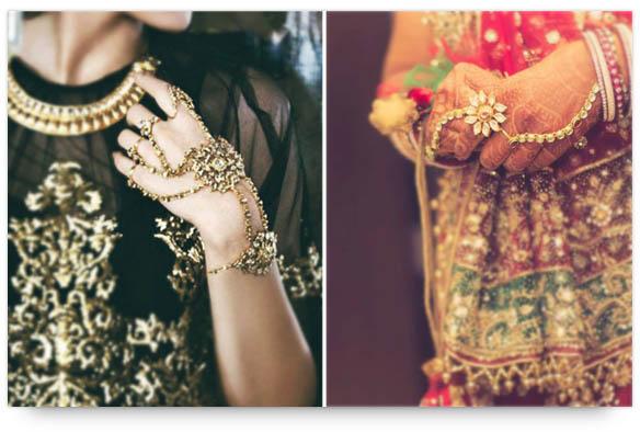 Indian Bridal Jewelry - Haathphools