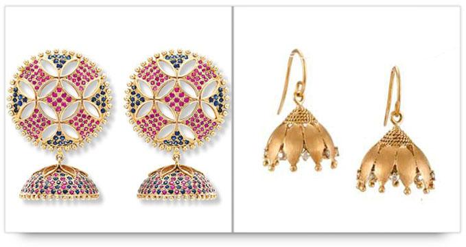 Indian Bridal Jewelry - Jhumkas and Jhumkis