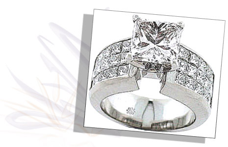 Invisible Setting Is Invisible Set Diamond Ring The