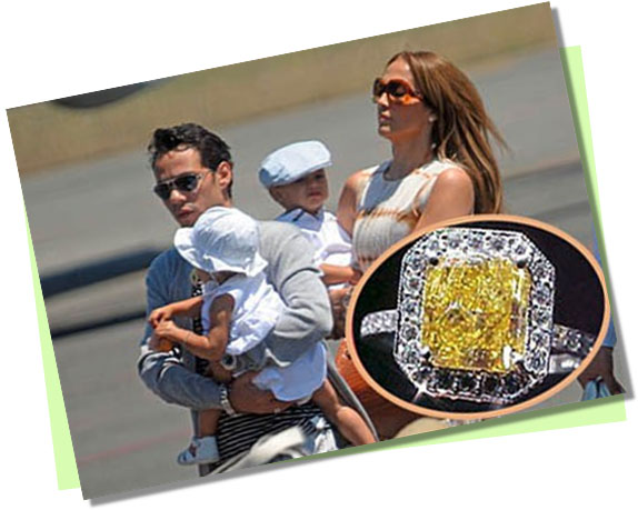 Jennifer Lopez with Yellow Diamond