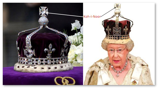 Kohinoor diamond in Queen Elizabeth's crown