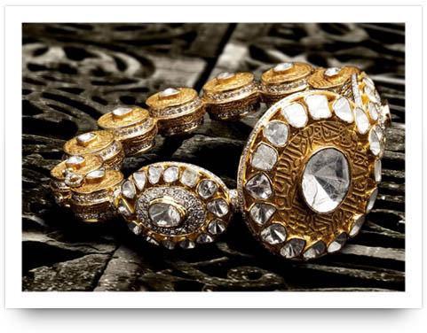 Kundan Hand-cuff Birdhichand Jewelers