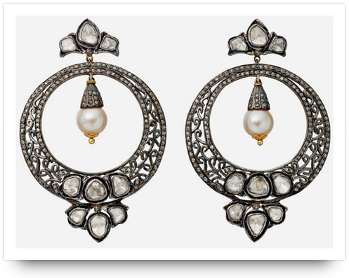Kundan Jewelry Hoop Earrings Amrapali Jewelers