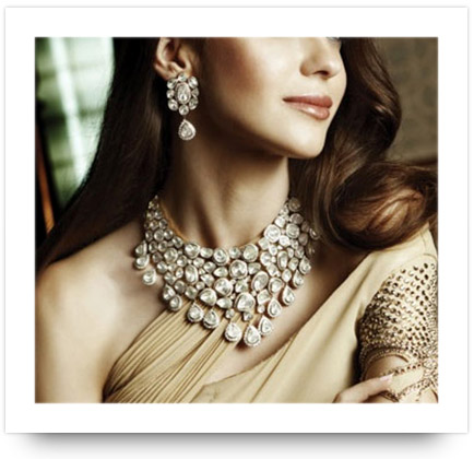 Kundan Necklace with contemporary outfit