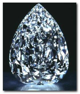 The Millennium Star Beautiful Pear Shaped Blue Diamond