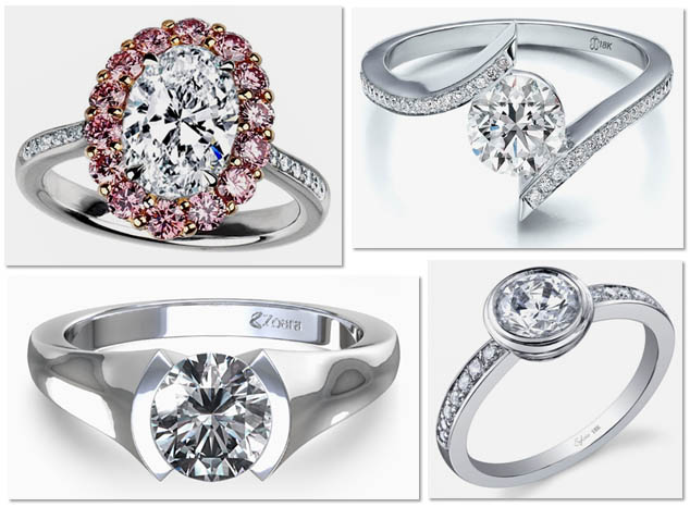 Modern Engagement Ring Settings