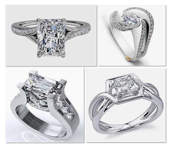 Modern Solitaire Engagement Rings