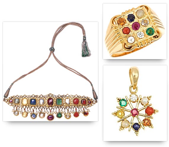 Navaratna Necklace, Ring and Pendant