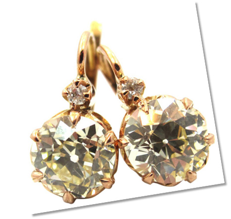 Old European Diamond Earrings