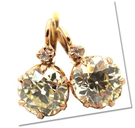 Old European Diamond Earrings