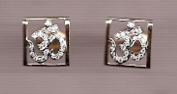 Diamond Earrings inspired by 'Om'