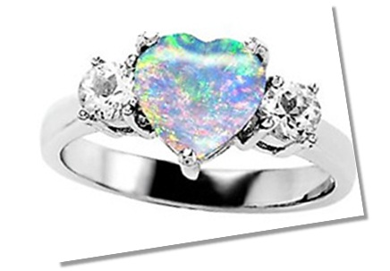 opal engagement rings - Black Opal Wedding Rings