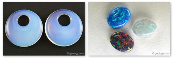 Opal imitations and synthetics