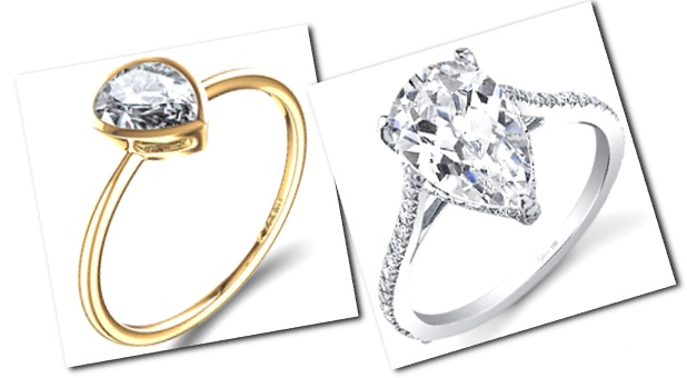 Incredible Pear Shaped Engagement Rings For Those Who Play With Their Own Hairstyle Inspiration Daily Dogsangcom