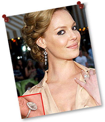 Pear Shaped Engagement Ring Katherine Heigl