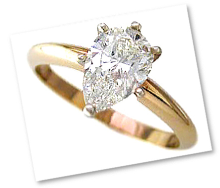 Pear Shaped Diamond Prong Setting