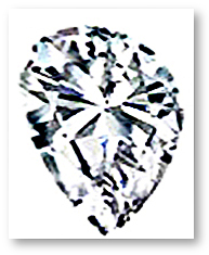 Pear Shaped Diamond Uneven Shoulder