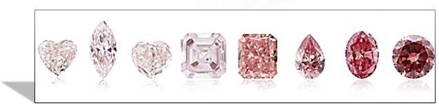 Pink diamond color shades