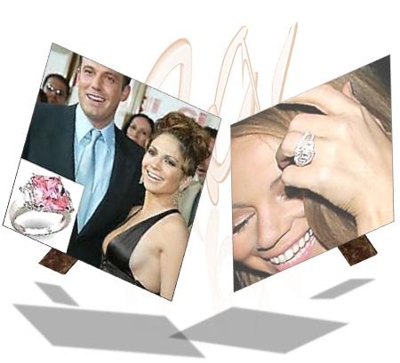 Jennifer Lopez with Pink Diamond Engagement Ring
