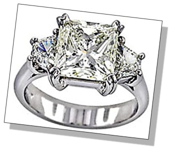Radiant Diamond 3 Stone Setting