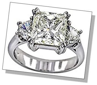 Radiant Diamond 3 Stone Setting