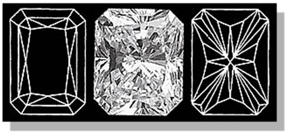 Radiant Diamond Facets Pattern