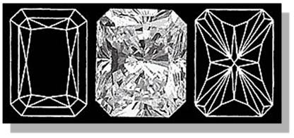Radiant Diamond Facets Pattern
