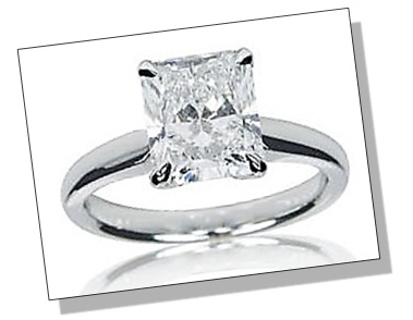 Radiant Diamond Prong Setting