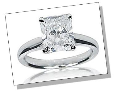 Radiant Diamond Prong Setting