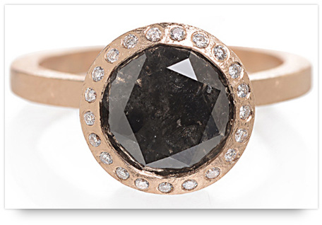 Todd Reed's Rose Gold Black Diamond Engagement Ring
