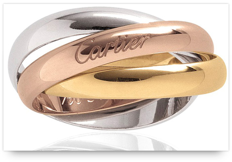 Rose Gold Engagement Ring - Cartier Trinity