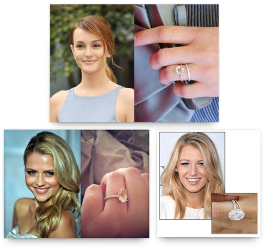 Celebrities with Rose Gold Engagement Rings