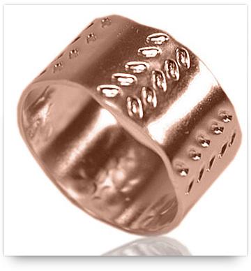 Handmade rose gold wedding ring from etsy.com