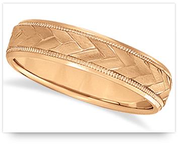 Rose Gold Wedding Ring for men from allurez.com