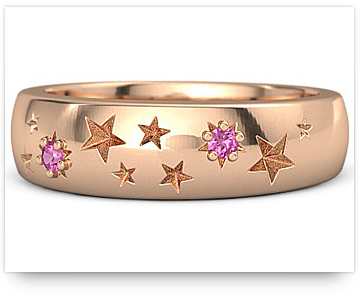 Rose Gold Wedding Ring from gemvara.com
