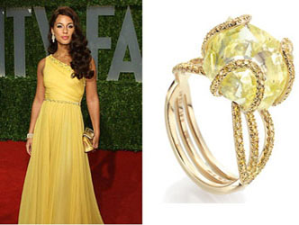 Rough Diamond Engagement Ring of Alicia Keys