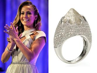 Rough Diamond Engagement Ring of Jennifer Lopez