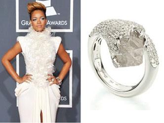 Rough Diamond Engagement Ring of Rihanna