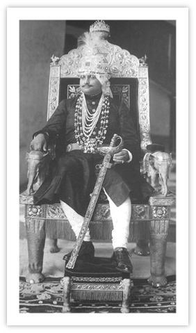 Royal Indian Jewelry - Maharaja Rameshwar Singh wearing Naulakha Haar