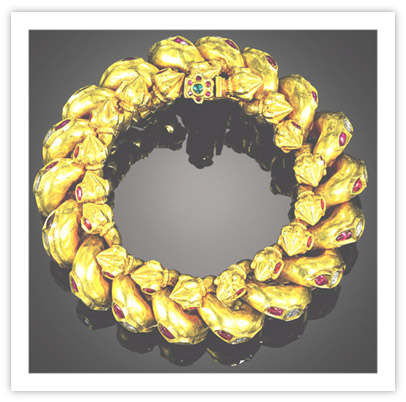 Royal Indian Jewelry Gold Anklet of Morvi