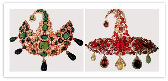 Royal Indian Jewelry Nizam Sarpech