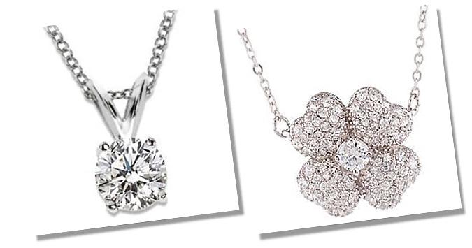 Simulated Diamond Pendants